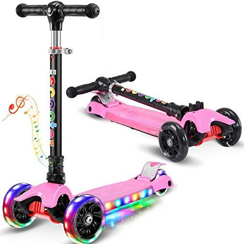 QIMA Kinderroller Kinder Roller Roller Vierrädriges 2-6-9 Jahre Altes, Verbreitertes Rad Freie Installation...