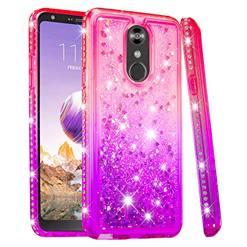 Buy Cheap NEXCURIO Glitter Silicone Case for LG Stylo 4/Q Stylus/QStylus Plus, Shockproof Anti-Scrat...