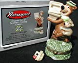 Porcelain Hinged Box (PHB) - 'Yogi Bear and Boo Boo with Picnic Basket' by Midwest