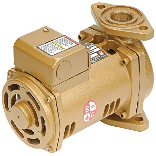 Bell & Gossett PL-36B Series Pl Maintenance-Free Circulator, Flange Connection, 1/6 hp, 115V, Lead-Free Bronze