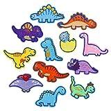 LEMESO 12 piezas Ropa Parches de Dinosaurios Lindos Material de Costura Parches Termoadhesivos Decorativos para Ropa DIY Diseño Apliques Dinosaurios Distintos Decoraciones
