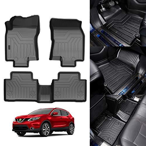 KUST All Weather Floor Mats for Nissan Rogue 2014-2020 (Not for 2021 Rogue Third Generation T33 ) (No Rogue Select and Sport Models ) Floor Carpet Liners 2 Row Liner Set