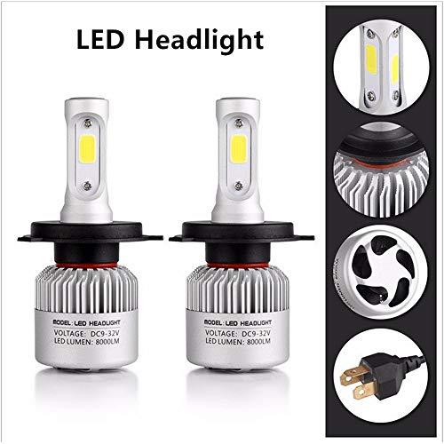 Ampoules de phares de voiture - 2 x 3000 K H4 LED H7 H11 H8 HB4 H1 H3 HB3 - 72 W 8000LM Design Auto 6500 K 4300 K 8000 K LED.