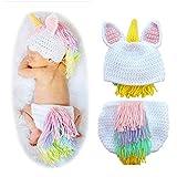 Newborn Baby Photo Props Boy Girl Baby Crochet Knitted Unicorn Costume Newborn Photography Props Color