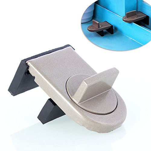 Neuftech Ajustable Bloqueo de Ventanas,Cerradura de Seguridad del bebé para Ventanas y Puertas-Gris