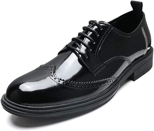LYZGF zapatos De Negocios con Costura Puntiaguda.