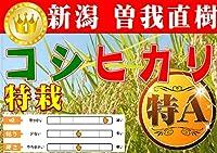 【令和元年度】曽我直樹作 非BL米 新潟コシヒカリ【白米】10kg ◆受注後に精米◆