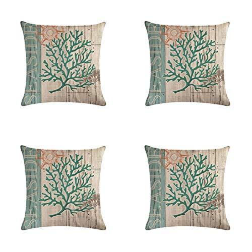 Shell Pattern Lh356 Cushion Cover Pillow Case Decorative Pillow Case 45X45Cm 4-Piece Set