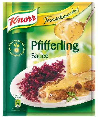 Knorr Feinschmecker Pfifferling Sauce, 21er Pack (21 x 250 ml Beutel)