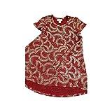 Lularoe Kids Scarlett Geometric Elegant Collection Deep Red with Gold Polka Dots Swing Dress Size 6 fits Kids 5-6