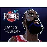 puzzles De Madera James Harden Basketball Star 1000 Piezas Madera para Adultos Juguete Educativo(Color:UNA)