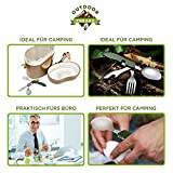 OUTDOOR FREAKZ Outdoor Campingbesteck Klapp-Besteck aus Edelstahl mit Gürteltasche, das Original! (schwarz +) - 7
