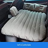 KKmoon Car Travel Inflatable Mattress Air Bed Cushion Portable Camping Universal for SUV Extend Air Couch with Two Air Pillows Grey