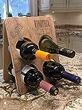 Vinoteca - Botellero para encimera de vino, pequeño, 4 botellas, soporte para almacenamiento de vino, mesa plegable para vino - La mejor idea de regalo para vinos para hombres y mujeres, recuerdos