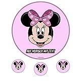 Tortenaufleger Geburtstag Tortenbild Zuckerbild Oblate Motiv: Disney Minnie Maus 10 (Zuckerpapier)