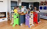 Leea tour d'apprentissage, chaise haute, bureau, tableau noir et glisseur (bleu)