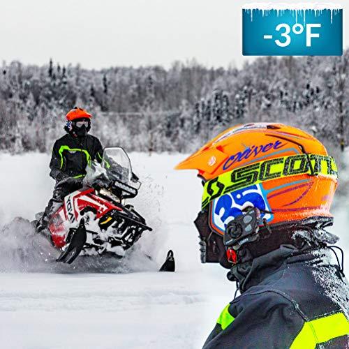 LEXIN FT4 Helm Intercom, Motorrad Headset Bluetooth Helm Gegensprechanlage bis zu 4 Fahrer Kommunikation Geräuschunterdrückung Reichweite von 2000 Metern mit FM, Siri, S-Voice für Fahrrad, Skifahren - 4