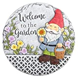 【Personalized 'Welcome to the Garden'】- Decorative stepping stones are a great way to infuse your personality into your garden or landscape, it's ideal for adding a unique, charming touch to a walkway or outdoor living space 【Eye-catching Decorative ...