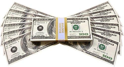 BILLETES DE DOLAR AMERICANOS FALSOS 10 000 IMPRESOS AL ESTILO ANTIGUO FAJO DE BILLETES DE 100 DÓLARES NUEVO Para Pistola de Dinero Cañón de Billetes Película Juguete Falso Dinero Billetes Casino