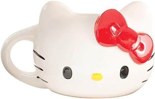 toma Hello Kitty Kitty Kitty Sculpted 18 oz Ceramic Taza  buena reputación