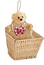 SKGOFGODcw Home Storage Bins Wall-mounted Storage Basket,Hanging Organizer Storage Basket ,Seaweed Weaving Hanging Storage...