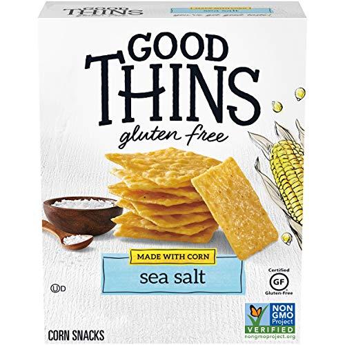 Good Thins Sea Salt Corn & Rice Snacks Gluten Free Crackers, 3.5 oz