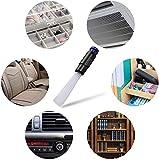 Cepillo para polvo, Cepillo aspirador universal, accesorio para aspiradora, con 30 pajitas flexibles para teclado, cajón, automóvil, esquina