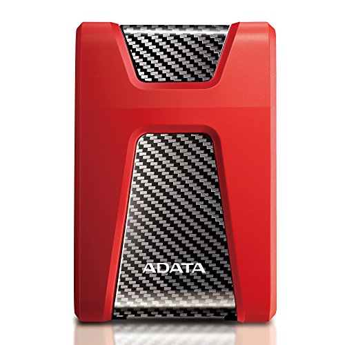 ADATA HD650 2TB External Hard Drive (Red)
