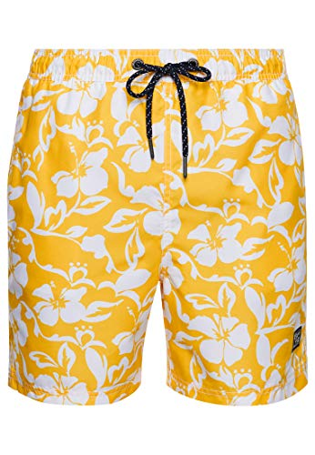 Superdry Hawaiian Swim Short Pantalones Cortos para Tabla, Campus Gold, S para Hombre