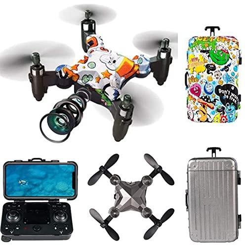 GAOFQDrone con cámara para niños de 8 a 12 años con 720p HD FPV Cámara Control Remoto Juguetes Regalos para niños Niñas con Video en Tiempo Real Modo sin Cabeza Drone (Color: Multicolor)