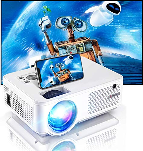 WiFi Projector, BOMAKER 7000 Lumens Portable Outdoor Movie Projector, Full HD 1080P Supported, 300'' Screen Compatible with iPhone, Android, Laptops, TV Stick, HDMI for Home Cinema