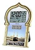 Auto Islamic Azan Clock with Qibla Direction QAC602 (Gold)