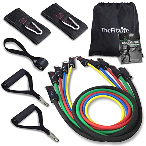 TheFitLife Exercise Resistance Bands with Handles - 5...