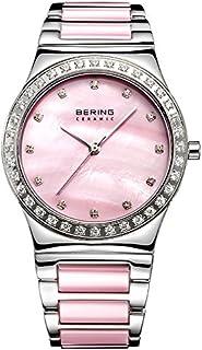 Bering 丹麦品牌 陶瓷系列   镶钻女士石英手表奢华时尚休闲女式陶瓷腕表手表