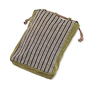 wasuian Men's Cotton Cloth Bag Tangier Stripe