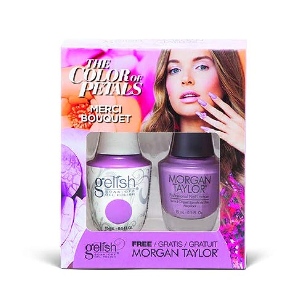 ラベ下手フロントHarmony Gelish - Two Of A Kind - The Color Of Petals - Merci Bouquet - 15 mL / 0.5 Oz