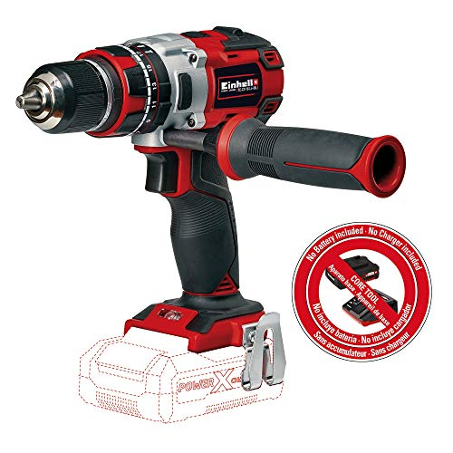Einhell TE-CD Power X-Change 18-Volt Cordless 1/2-Inch, MAX 1800 RPM, 531 Inch-lbs Brushless Impact Hammer Drill/Driver