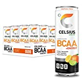 CELSIUS BCAA +Energy Sparkling Post-Workout Recovery & Hydration Drink, Tropical Twist, 12 oz. Slim Can, 12 Pack