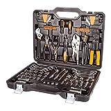 Bort BTK-123 Werkzeugkoffer 123-teiliges Werkzeugset für Haushalt und Hobby