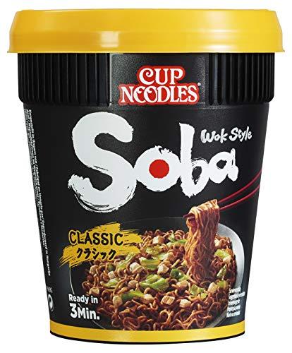 Nissin Cup Noodles Soba Cup – Classic, 1er Pack, Wok Style Instant-Nudeln japanischer Art mit Yakisoba-Sauce und Gemüse, schnell im Becher zubereitet, asiatisches Essen (90 g)