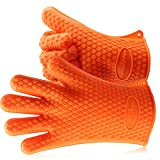 ThermoPro TP100 BBQ, Grilling, Kitchen Oven Mitts, Extreme Heat Resistant Gloves