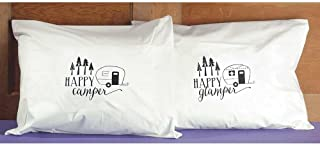 Jozie B 200067 Camper/Happy Glamper Percale Pillow Cases, Set of 2, Standard