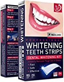 Teeth Whitening Strips - 24 Kit for Express Professional 3D Effect - White Smile 4-8 Shadows Whiter - for Sensitive Teeth and Gums - Removes Coffee, Tea, Smoking & Wine Stains - Formulated in USA