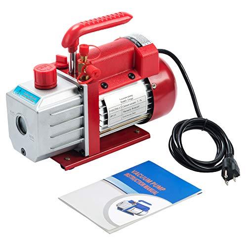 Orion Motor Tech Pompa Vuoto Monostadio Pompa a Vuoto del Refrigerante Ricarica Automatica del Refrigerante CA (0,13 M3/MIN)