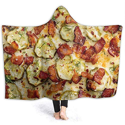 Pizza Pork Man Hooded Blanket Superweiche Flanelldecke Hoodie Wearable Hooded Robe Kapuzenmantel Für Bademantel