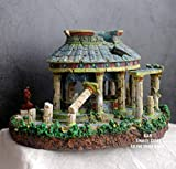 BIPL Escultura Figurilla Estatuas Acuario Acuario Paisajismo Atlantis Civilización Antiguo Edificio Resina Decoración Decoración B Paradise Temple