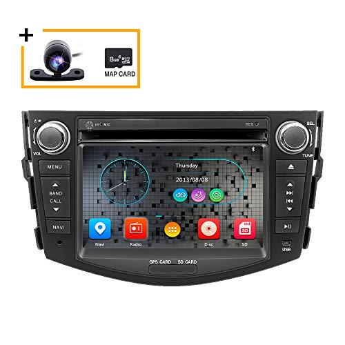 Freeauto Car en Dash Radio para Toyota RAV4 2006 2007 2008 2009 2010 2011 2012 Monitor de 7 Pulgadas Reproductor de DVD Navegación GPS Estéreo
