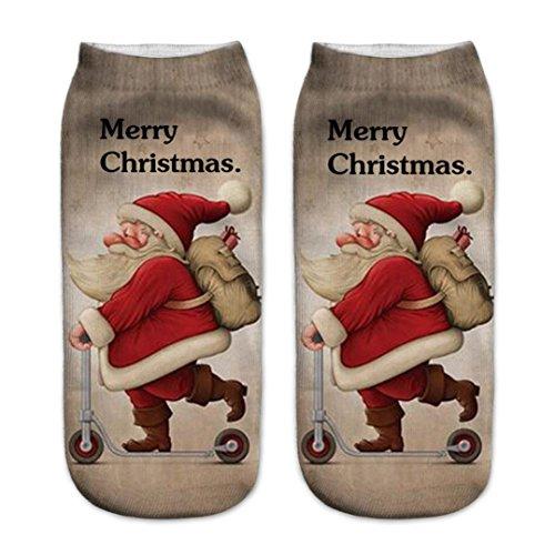 Clearance! Paymenow Women's Girls Casual Comfortable Cartoon Animal Crew Socks Christmas Gift Slipper Socks (C)