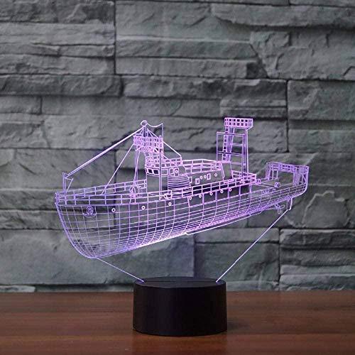Illusion Night Light Frachtschiff Modell Usb Kindergeschenk