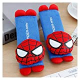Yinyimei Steering Wheel Cover 2 Pcs/Set Mickey Mouse Stitch Car Seat Belt Pads Harness Safety Shoulder Strap Backpack Cushion Pillow for boy Girl Gift (Color : Spiderman, Size : 20x60cm)